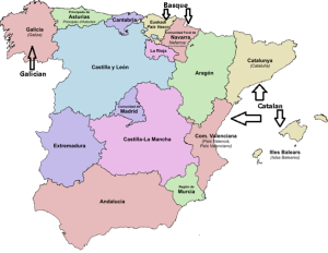 Minority languages of Spain (adapted from Martorell 2006)