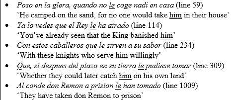 leísmo en El Cid